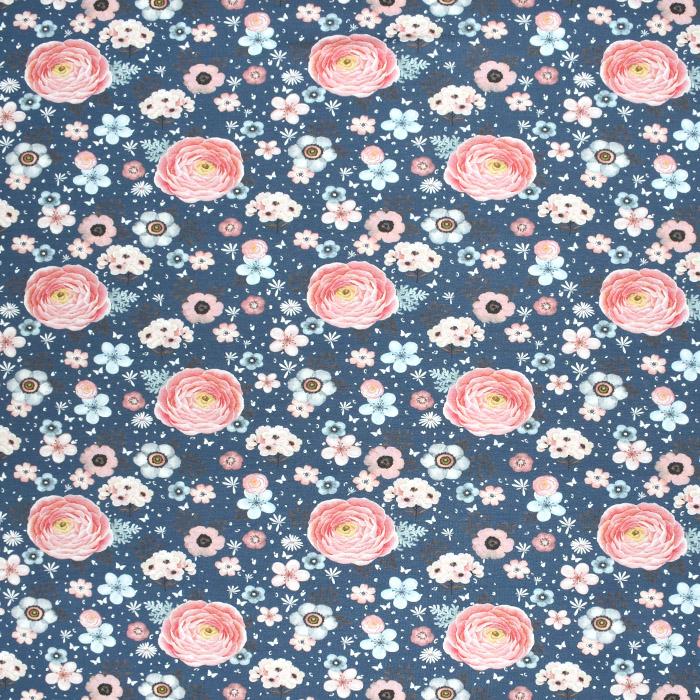 Jersey, Baumwolle, Digitaldruck, romantisch, 21442-16, blau