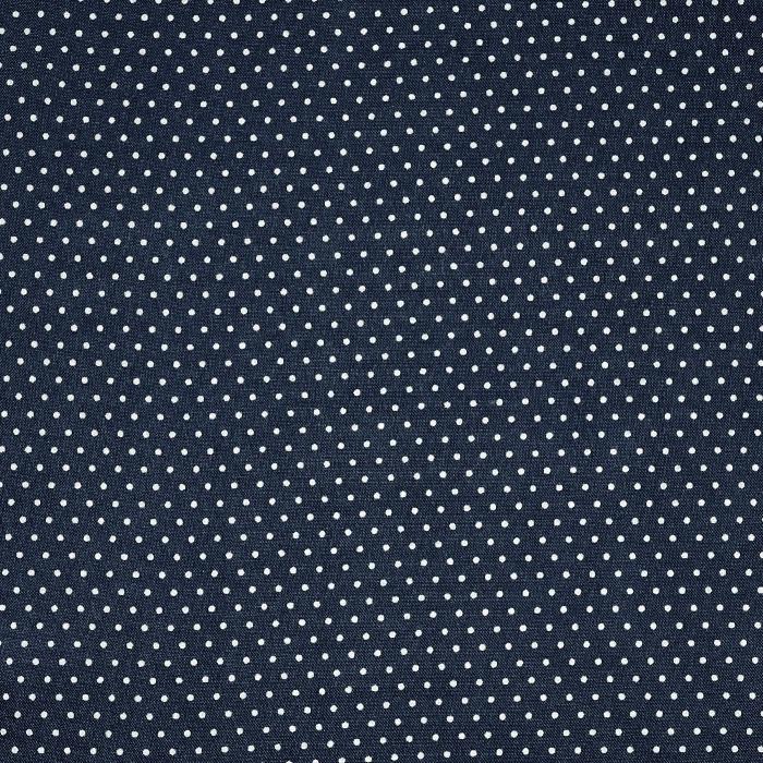 Gewebe, Viskose, Punkte, 20534-008, dunkelblau
