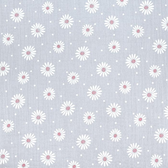 Tetra tkanina, dvojna, cvetlični, 21457-061, siva