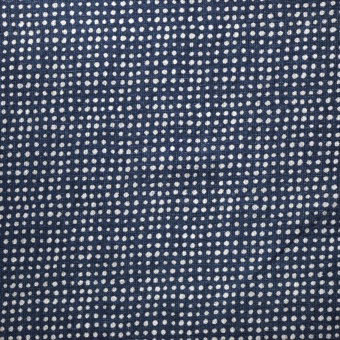 Gewebe, Viskose, Leinen, Punkte, 21460-008, dunkelblau