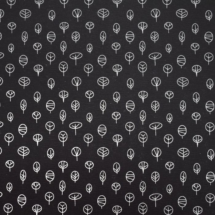 Dekostoff, Druck, Natur, 21471-069, schwarz