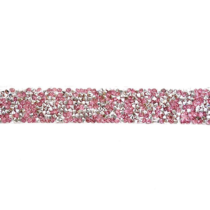 Trak, kristali, 20 mm, 18044-006, pink