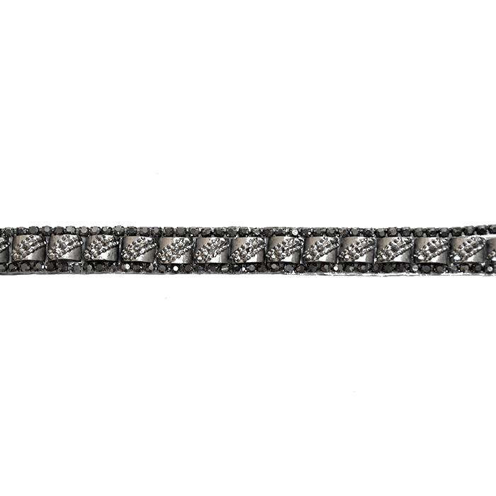 Band, Kristalle, 10 mm, 21514-105, schwarz