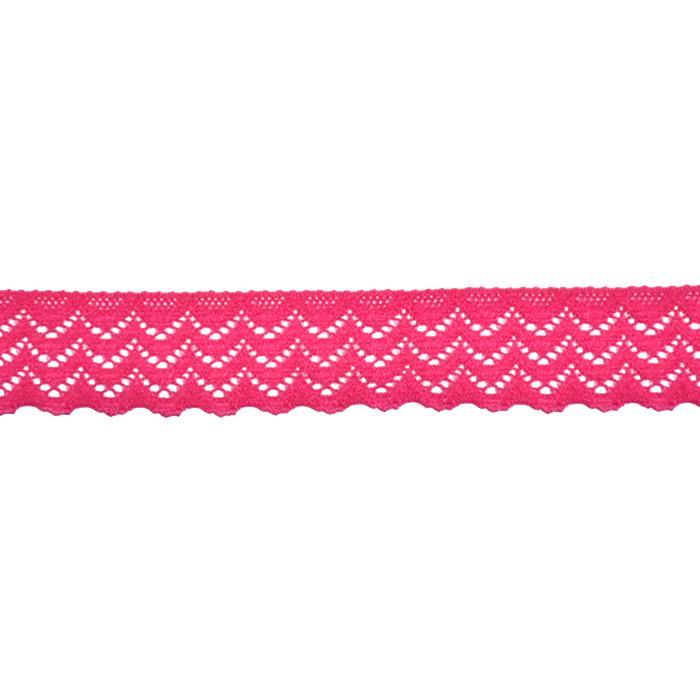 Spitze, elastisch, 20 mm, 21538-007, rosa