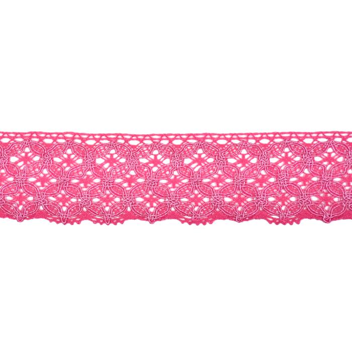Čipka, bombaž, 40mm, 21545-007, roza