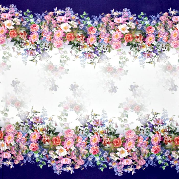 Jersey, viskoza, digital, cvetlični, 21375-7