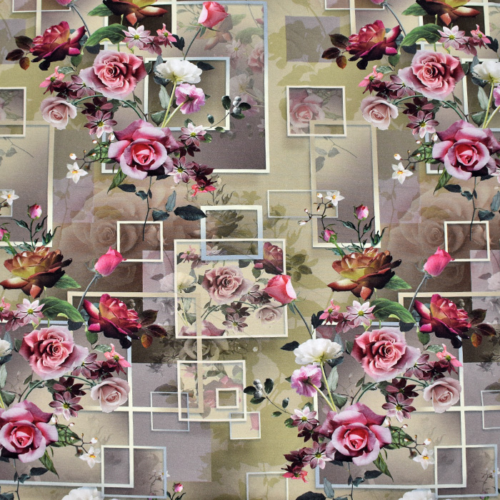 Jersey, viskoza, digital, cvetličen, 21375-29