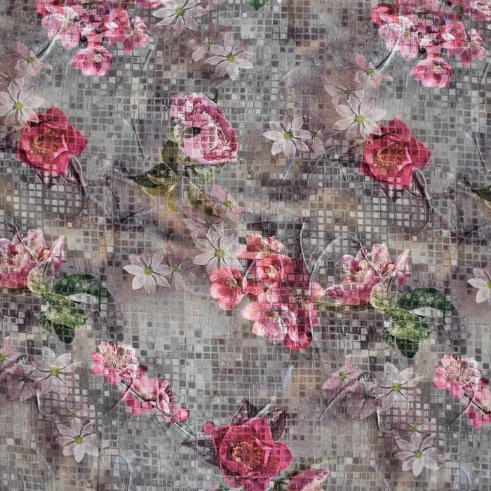 Jersey, viskoza, digital, cvetlični, 21375-30