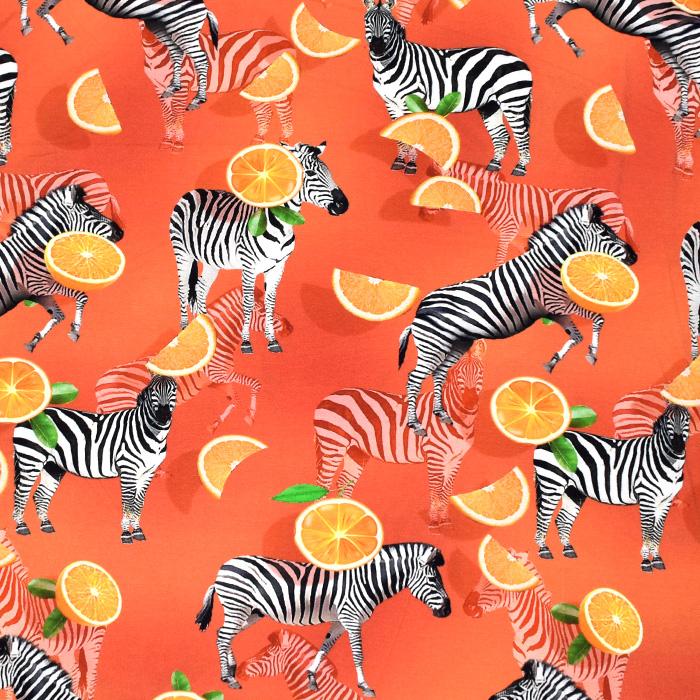 Jersey, viskoza, digital, živalski, 21375-31