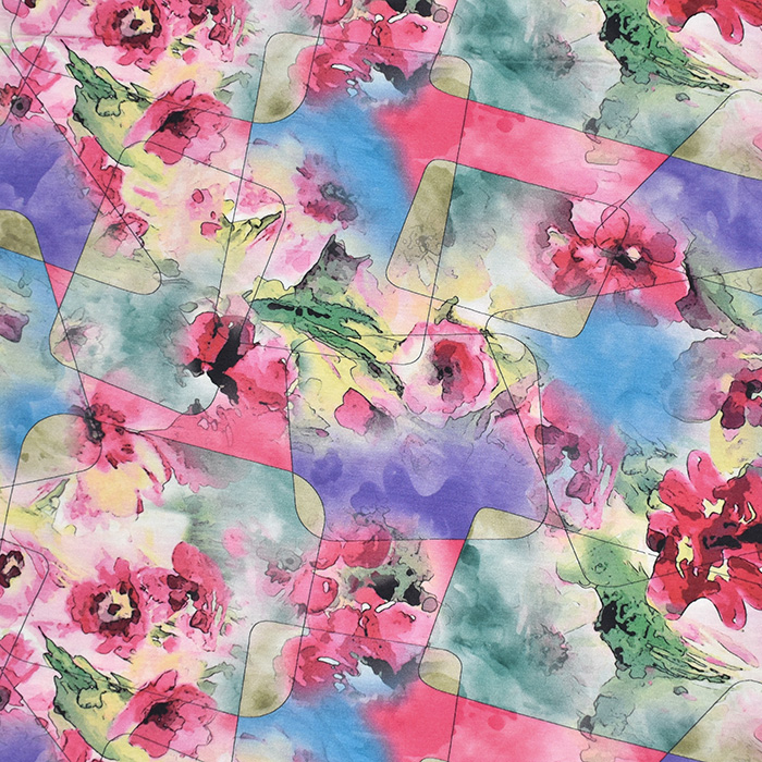 Jersey, viskoza, digital, cvetlični, 21375-35