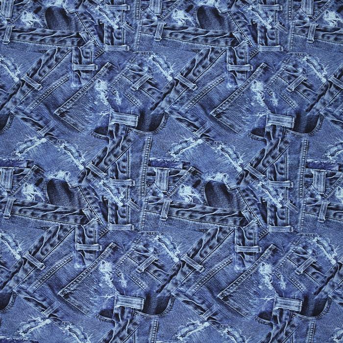 Jersey, Viskose, Digitaldruck, Jeans, 21375-38
