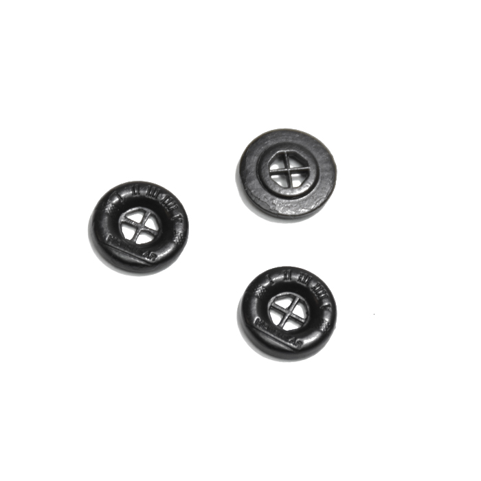 Gumb, kovinski, 13mm, 21584-130, črna