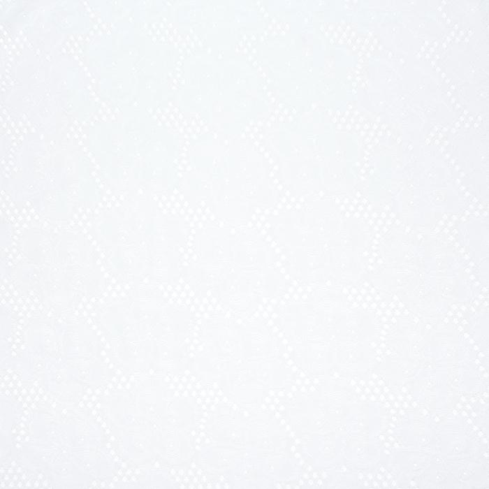 Jersey, poliester, cvetlični, 21634-20, bela