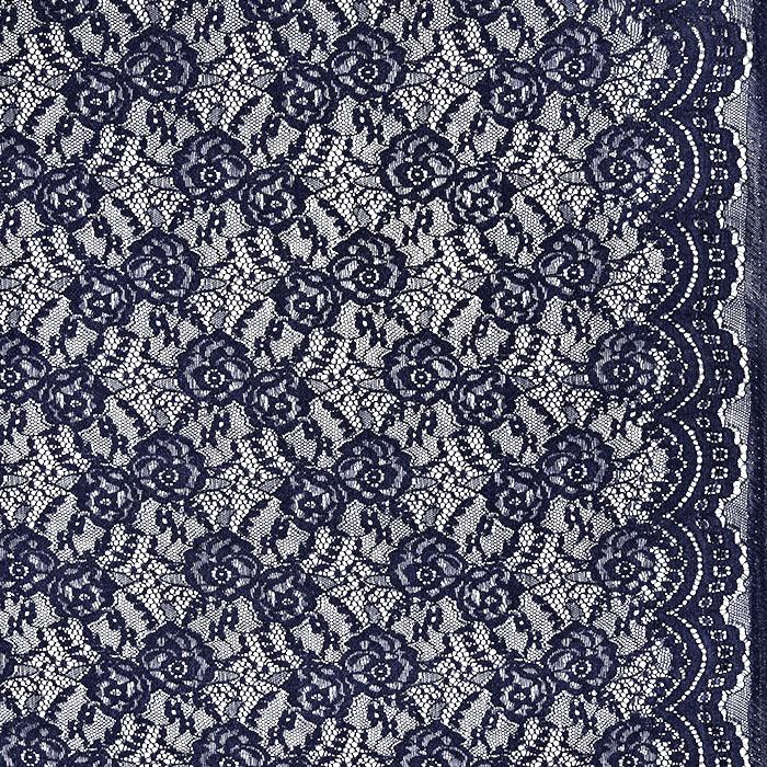 Čipka, elastična, 21657-008, temno modra