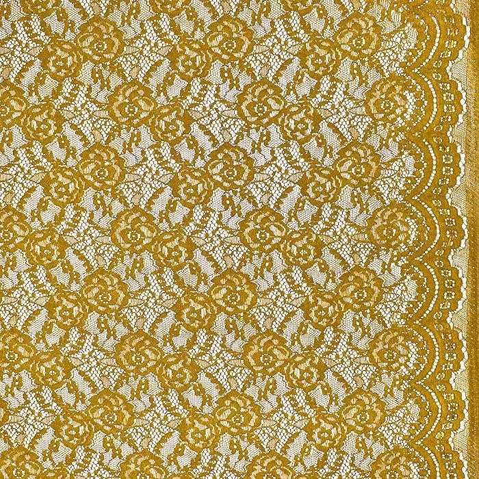 Čipka, elastična, 21657-037, žuta