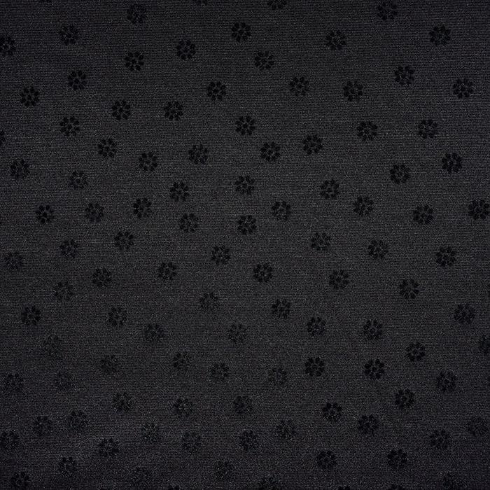 Pletivo, gosto, cvetlični, flock tisk, 21670-069, črna