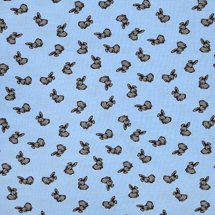 Jersey, bombaž, živalski, 21688-203, svetlo modra