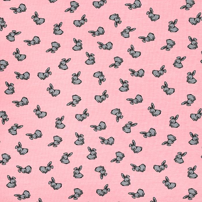 Jersey, bombaž, živalski, 21688-232, roza