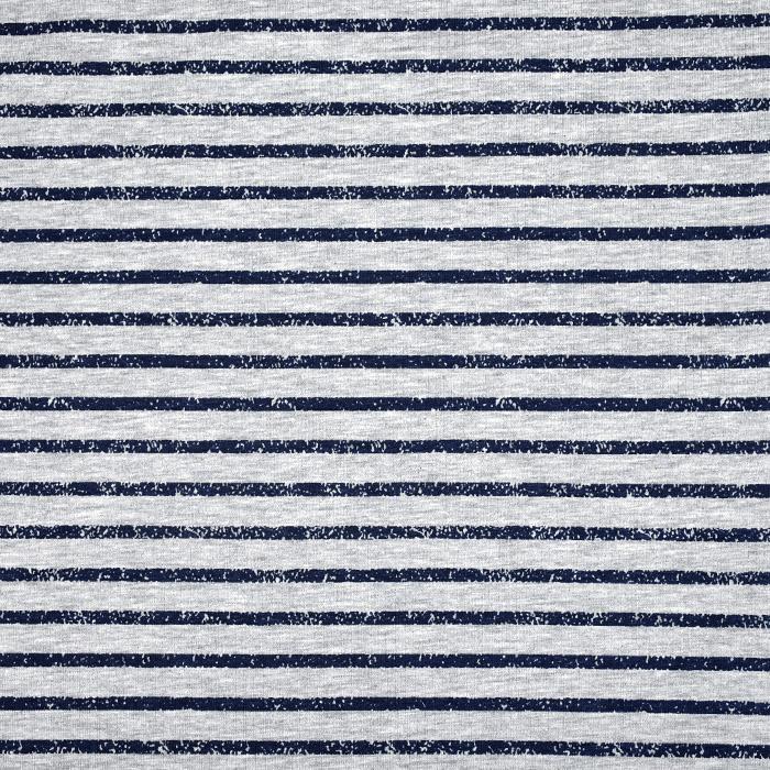 Jersey, bombaž, črte, 21419-001, sivo modro
