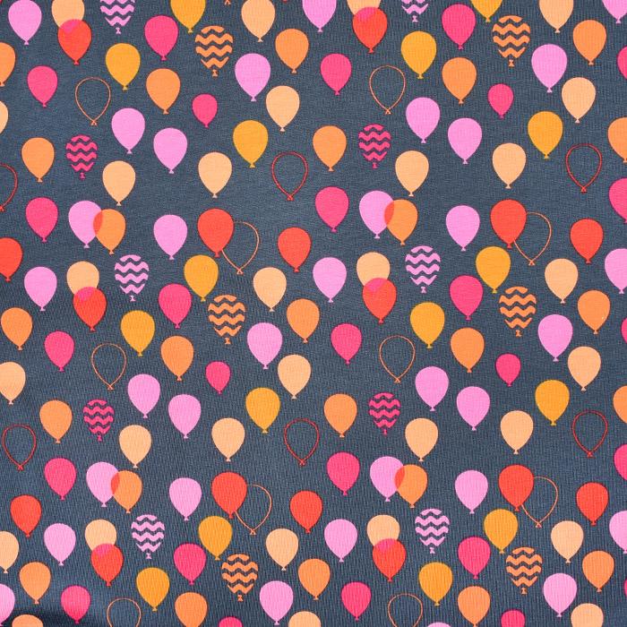 Jersey, bombaž, baloni, 21777-21, oranžno siva