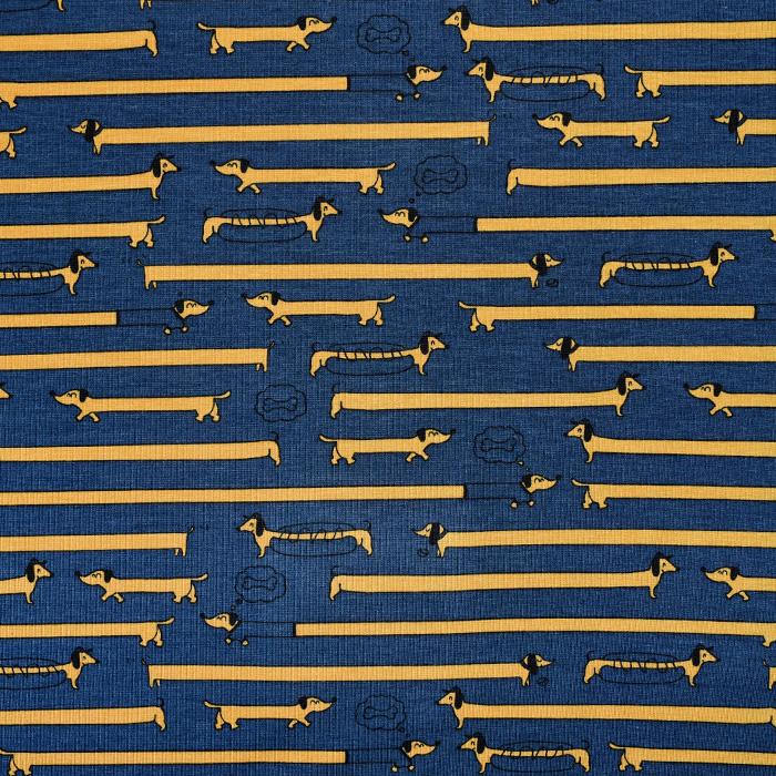 Jersey, bombaž, živalski, 21791-43, modra