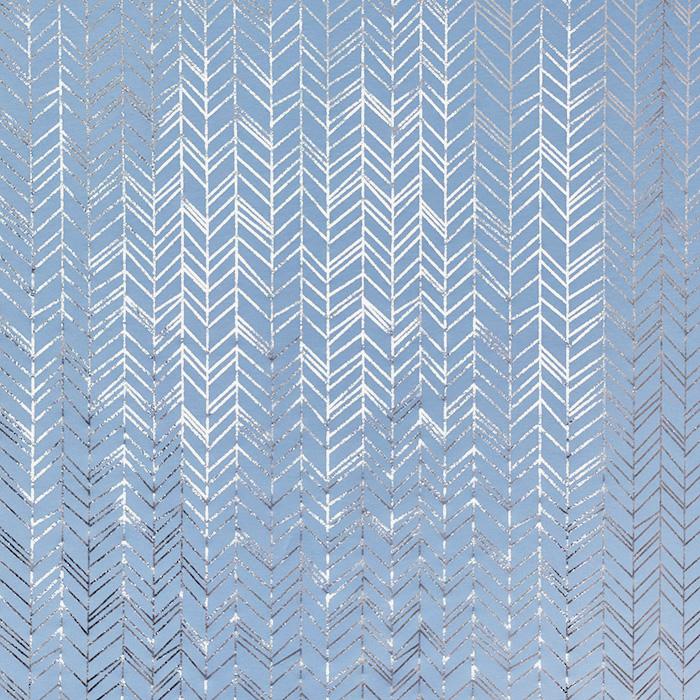 Jersey, pamuk, geometrijski, 21855-003, svjetloplava