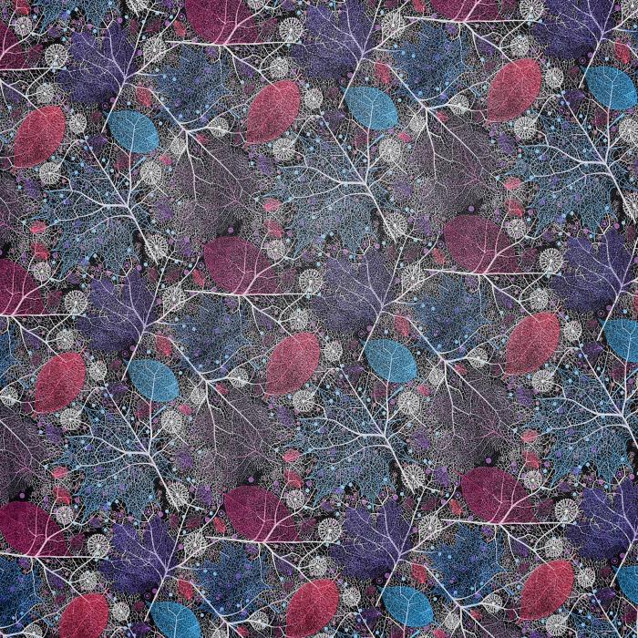 Umetno usnje Flower, 21876-2, modro vijola