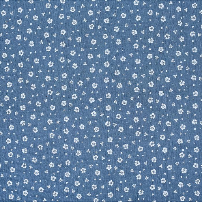 Tetra tkanina, dvojna, cvetlični, 21910-3028, modra