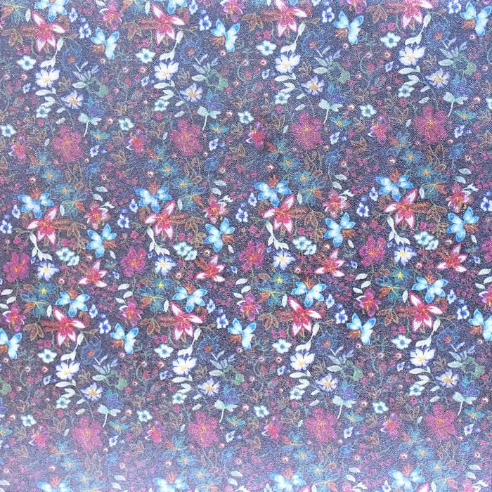 Umetno usnje Hologram, cvetlični, 19388-560