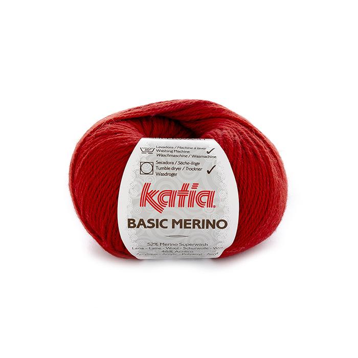 Volna, Basic Merino, 15041-21, rdeča