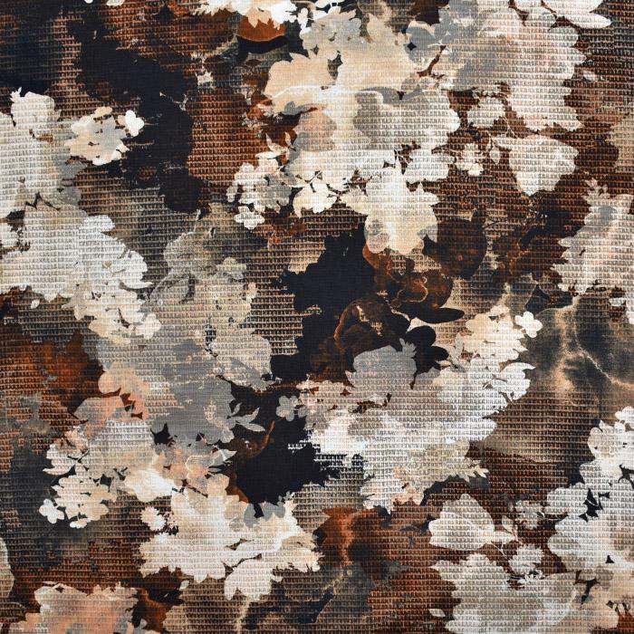 Jersey, bombaž, digital, cvetlični, 21939-002, bež
