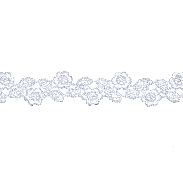 Trak, okrasni, čipka, 21976-001, bela