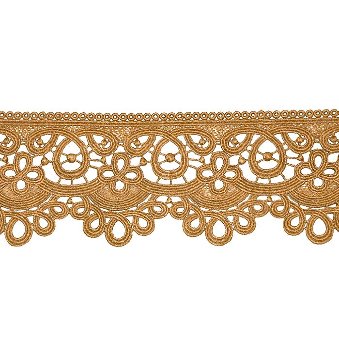 Čipka, 80 mm, ornamentni, 21978-005, oker
