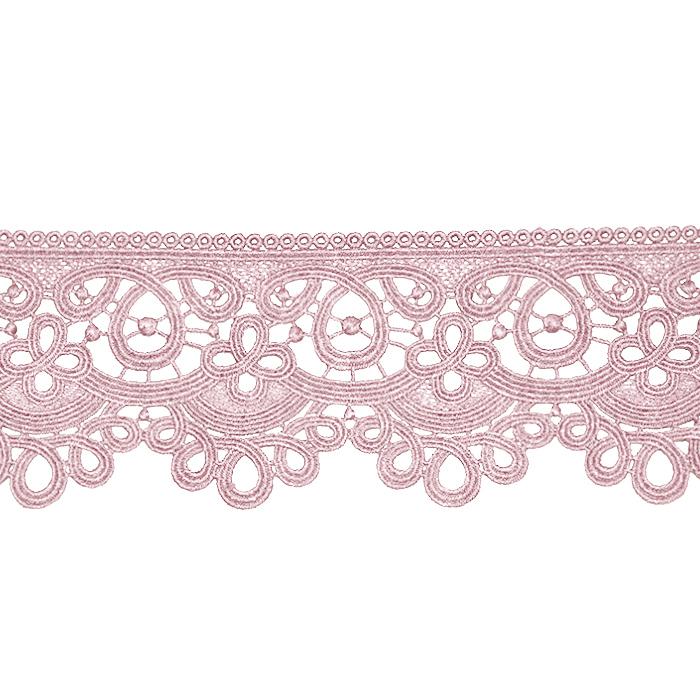 Čipka, 80 mm, ornamentni, 21978-055, roza