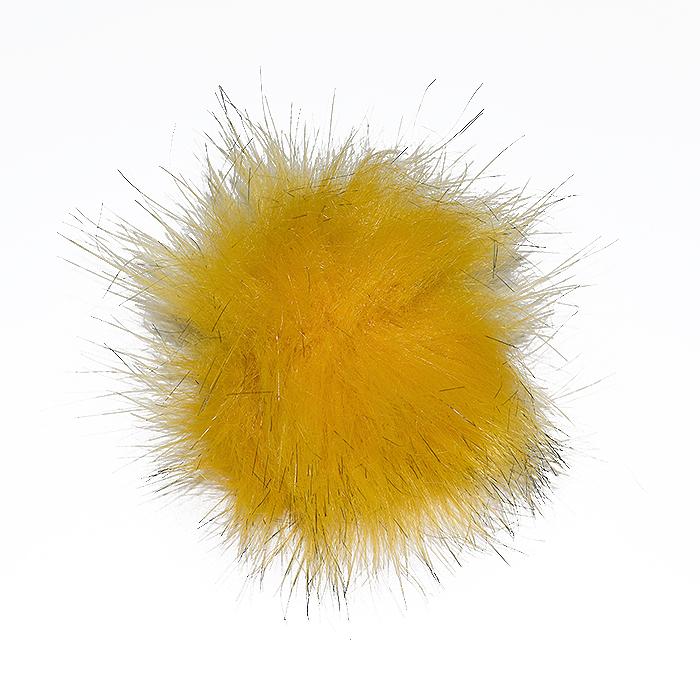 Cof, umetno krzno, 8 cm, 18887-032, rumeno črna