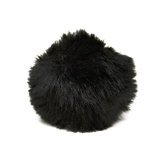 Cof, umetno krzno, 10 cm, 22003-002, črna