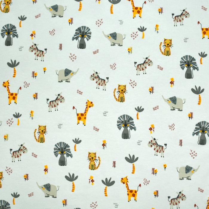 Jersey, pamuk, životinjski, 21988-002, mint