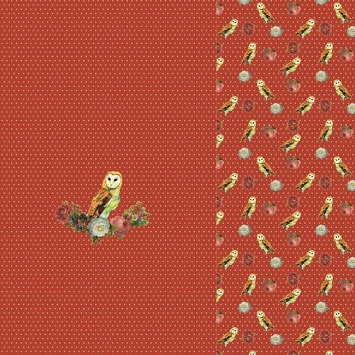Jersey, bombaž, digital, živalski, 22069-11, rdeča