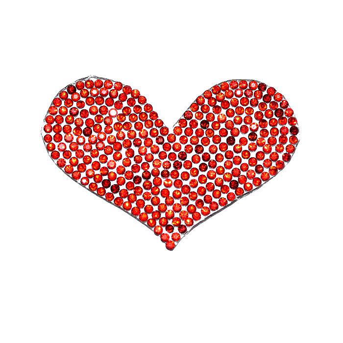 Našitek, srce, 22104-009, rdeča
