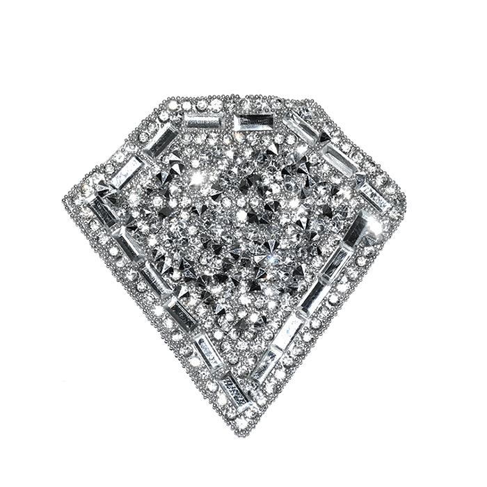 Našitek, diamant, 22105-001, srebrna