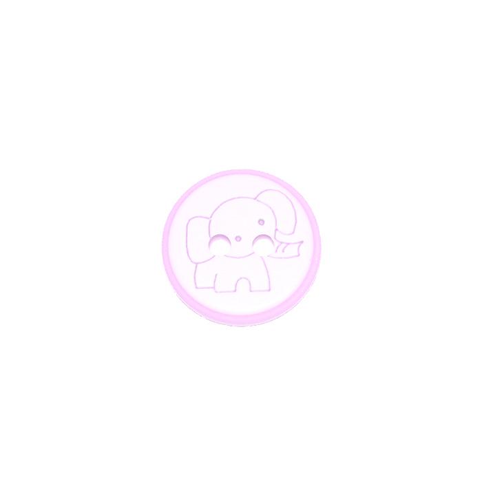 Gumb, otroški, slon, 15 mm, 22113-006, roza