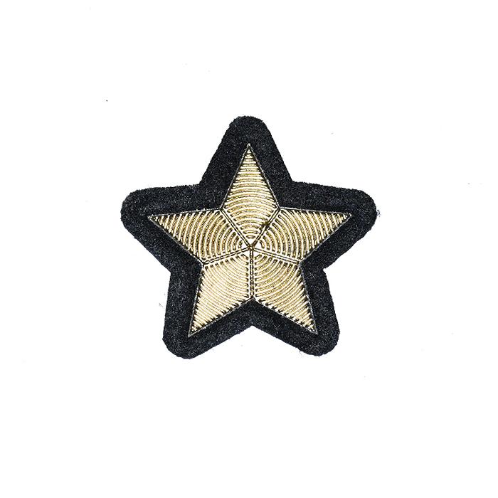 Prišivak, zvijezda, 22134-100, zlatna