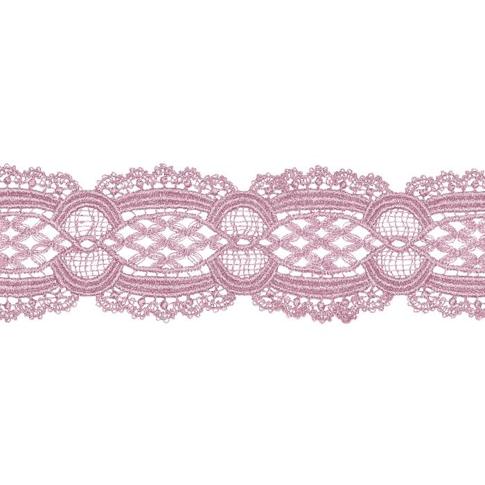 Čipka, 55 mm, ornamentni, 22141-055, roza