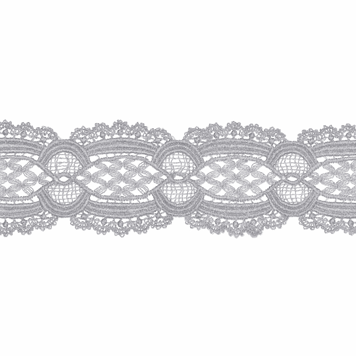 Čipka, 55 mm, ornamentni, 22141-027, siva