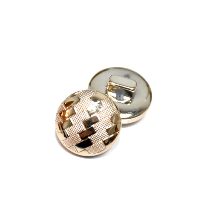 Gumb, modni, bombica, 25 mm, 22185-100, zlata