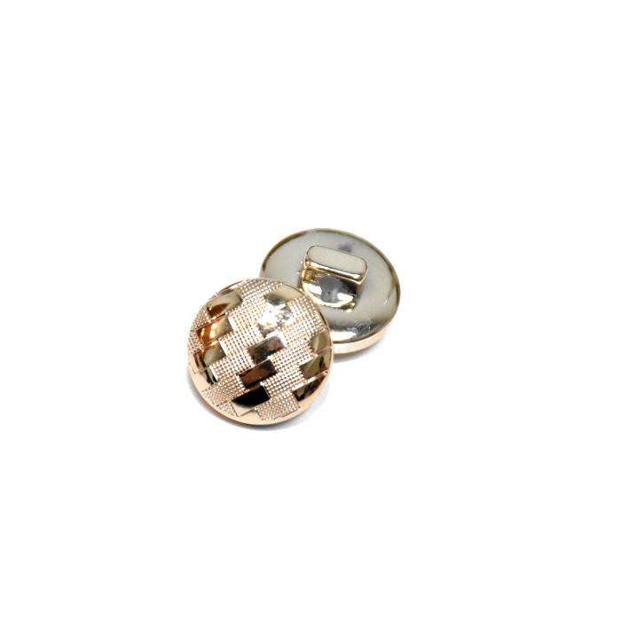 Gumb, modni, bombica, 15 mm, 22183-100, zlata