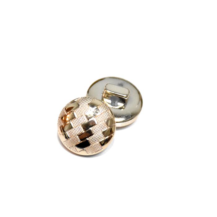 Gumb, modni, bombica, 20 mm, 22184-100, zlata