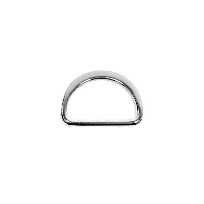 Polobroč, kovinski, 25 mm, 22204-101, srebrna