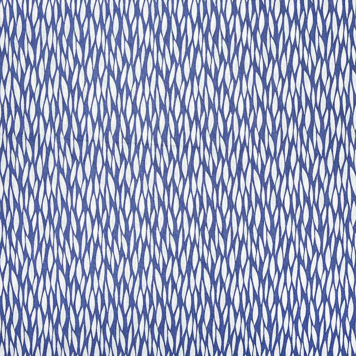 Bombaž, poplin, tisk, 22223-2, modra
