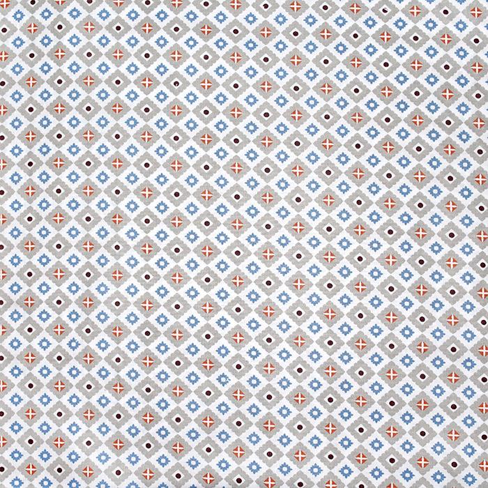 Bombaž, poplin, geometrijski, 22225-3, modra